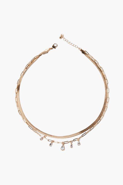 Faux Gem Layered Necklace, image 2