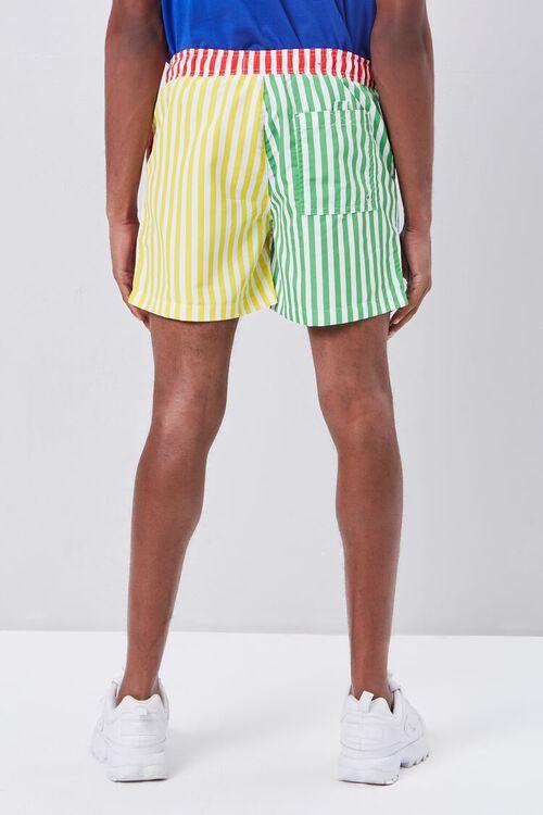 Colorblock Striped Print Swim Trunks, image 4