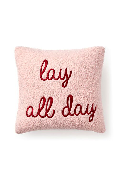 BLUSH/MULTI Embroidered Lay All Day Pillow, image 2