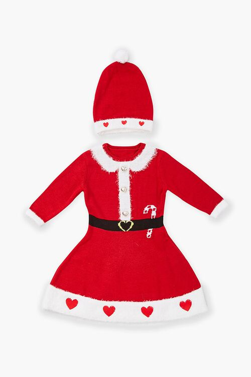 Girls Santa Sweater Dress (Kids), image 1