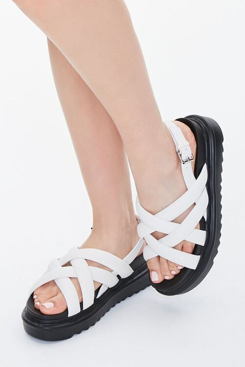 Strappy Flatform Sandals, image 1