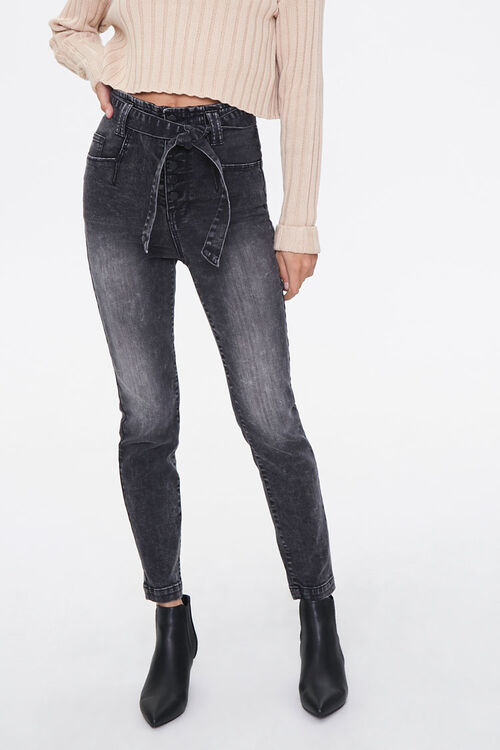 Belted High-Rise Jeans, image 1