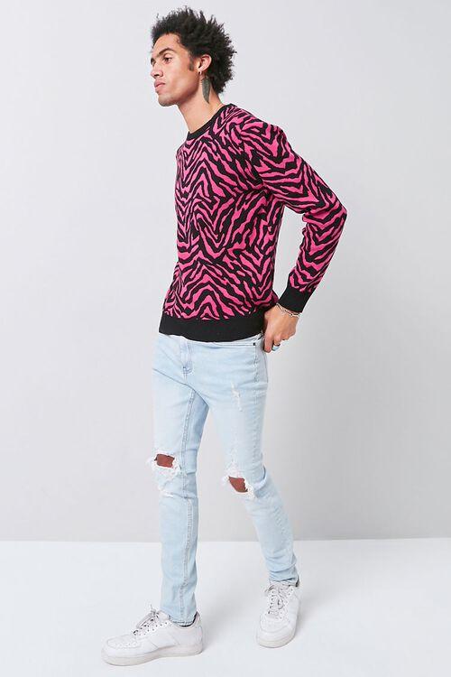 Tiger Striped Crew Neck Sweater, image 4