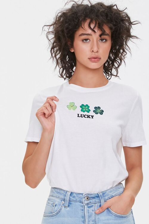 WHITE/MULTI Lucky Graphic Tee, image 1