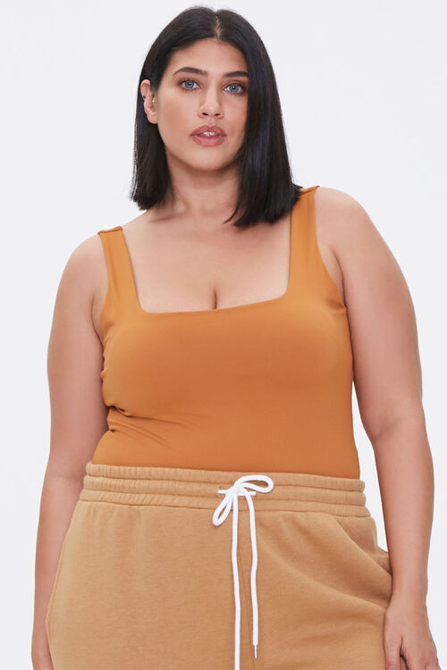 Plus Size Square-Neck Bodysuit, image 1