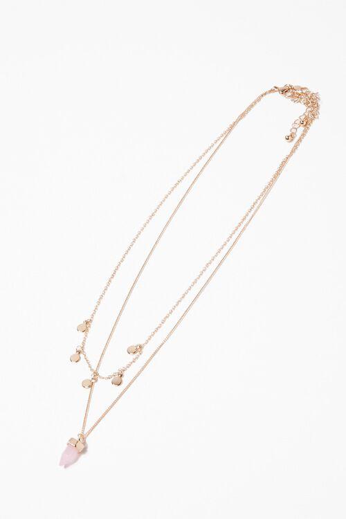 Faux Crystal & Disc Necklace Set, image 2