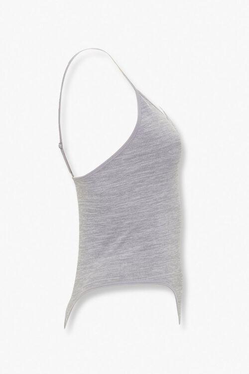 HEATHER GREY Cami V-Neck Bodysuit, image 2