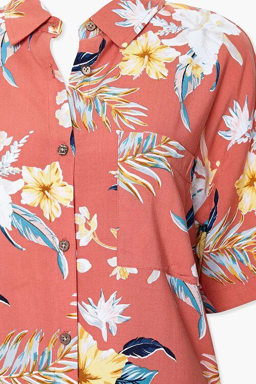 Tropical Floral Print Shirt, image 3