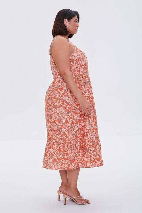 ROSE/MULTI Plus Size Ornate Print Cami Dress, image 2