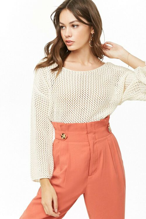 Open Knit Sweater, image 1