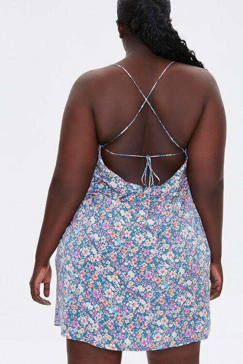 Plus Size Floral Print Crisscross Dress, image 3