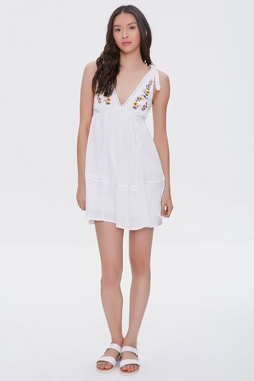 Embroidered Floral Mini Dress, image 5