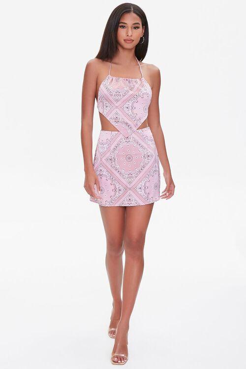 Paisley Print Mini Skirt, image 4
