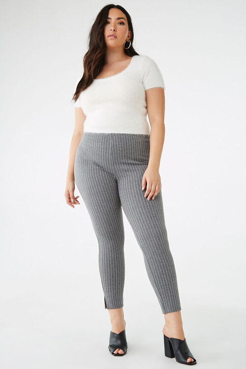 Plus Size Pinstriped Leggings, image 5