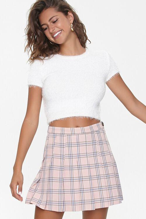 Pleated Plaid Mini Skirt, image 1