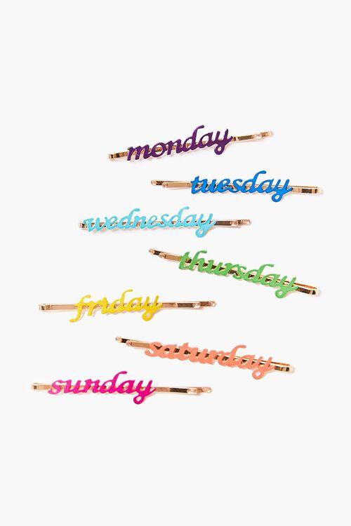 Days of the Week Bobby Pin Set, image 1