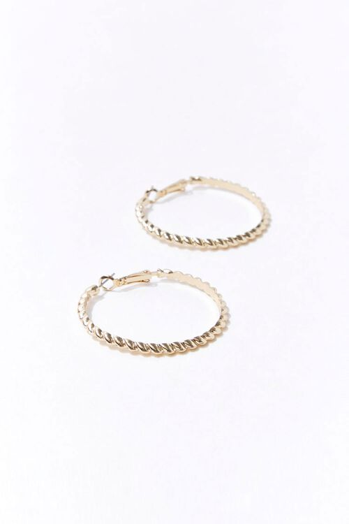 Upcycled Twisted Hoop Earrings, image 3