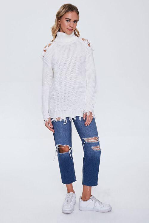 Open-Shoulder Turtleneck Sweater, image 4