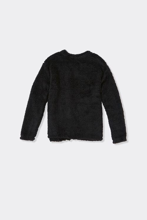 Girls Fuzzy Cardigan Sweater (Kids), image 2