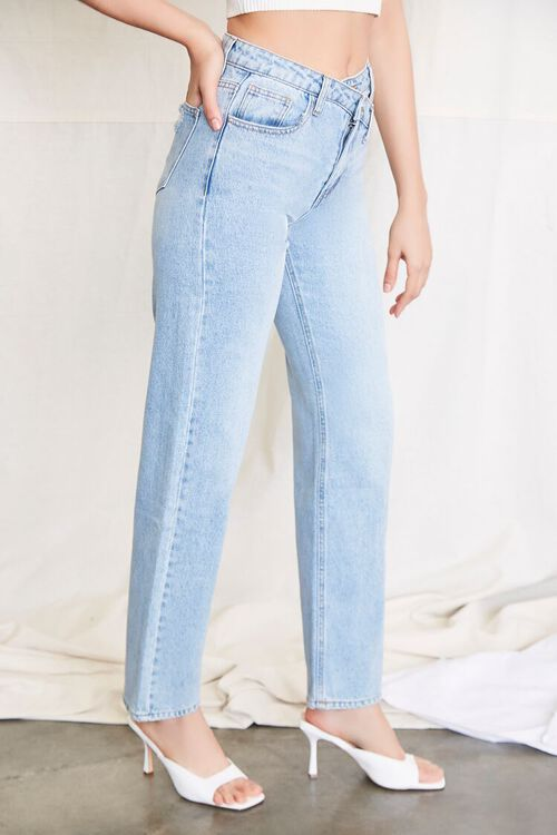 LIGHT DENIM Crisscross Waist 90s Fit Jeans, image 3