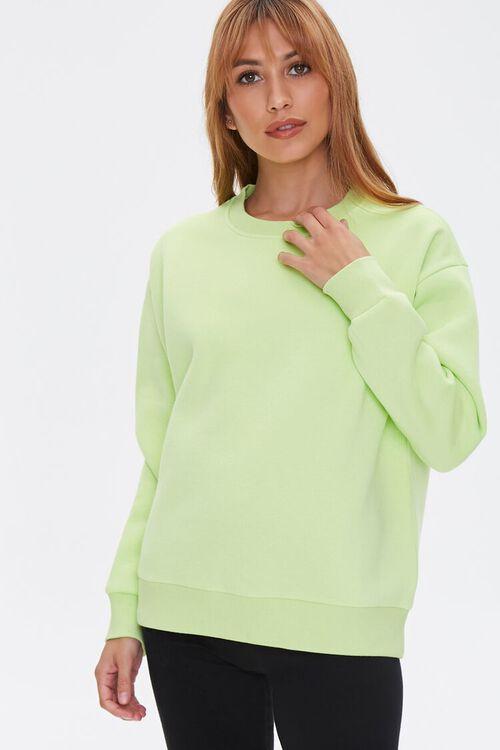Basic Fleece Drop-Sleeve Pullover, image 1