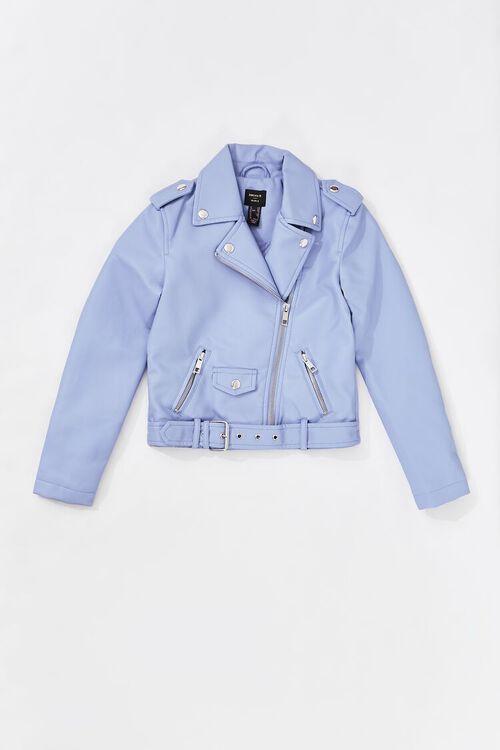 Girls Faux Leather Moto Jacket (Kids), image 1