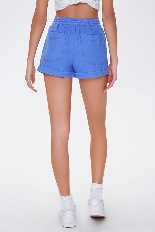 Cuffed Drawstring Twill Shorts, image 4