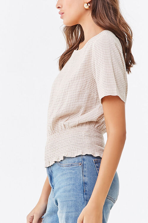 Striped Smocked Top, image 2