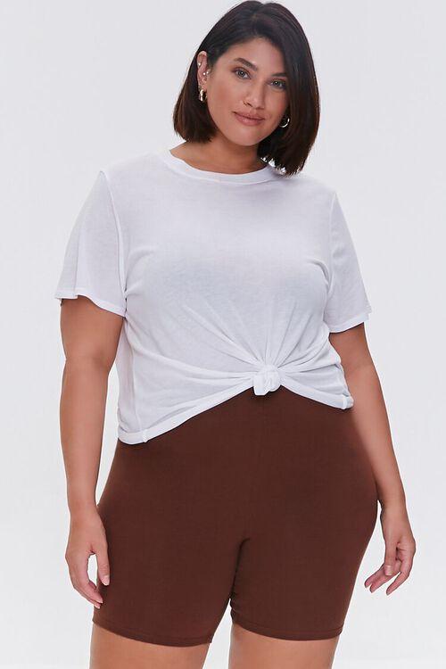 Plus Size Organically Grown Cotton Biker Shorts, image 1