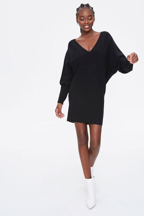 Batwing-Sleeve Sweater Dress, image 1