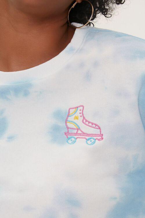 BLUE/MULTI Plus Size Tie-Dye Moxi Skates Top, image 6
