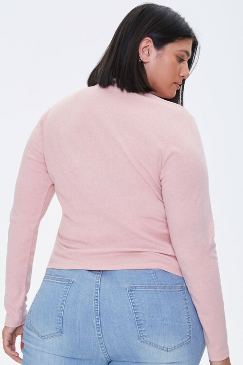 Plus Size Fitted Mock Neck Top, image 3