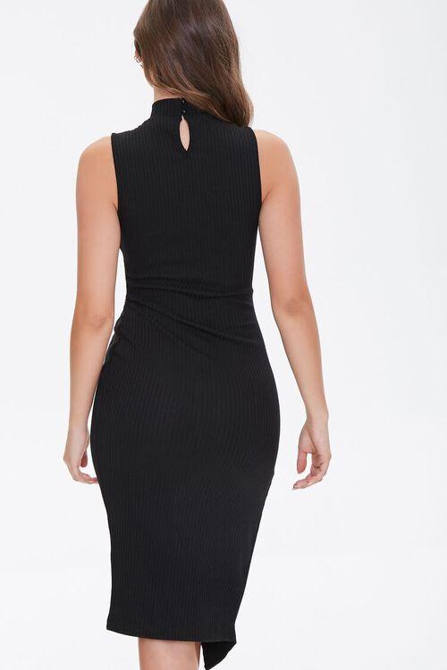 Ribbed Twisted Mock Neck Dress, image 4