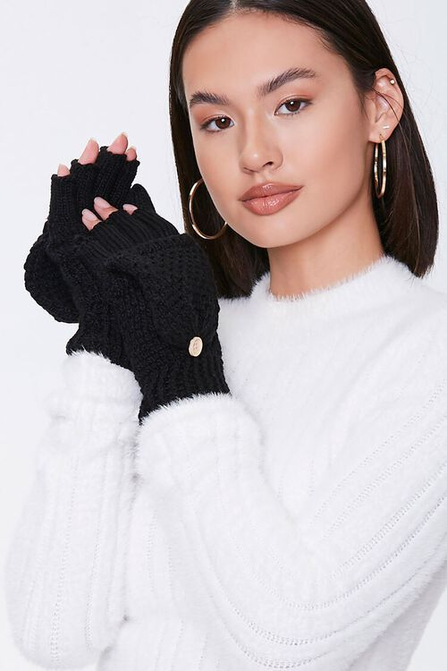 Convertible Knit Gloves, image 2