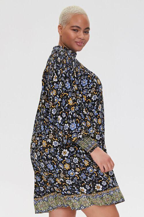 Plus Size Ornate Floral Shift Dress, image 2