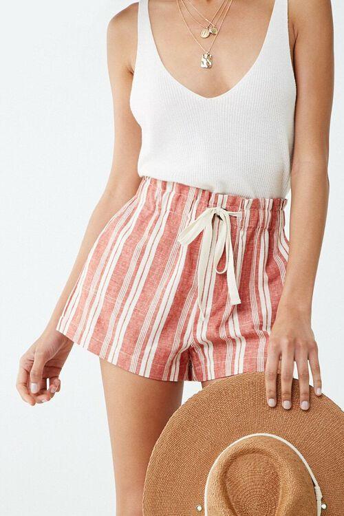 Linen-Blend Striped Shorts, image 1