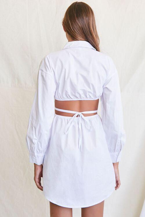 Cutout Shirt Dress, image 3