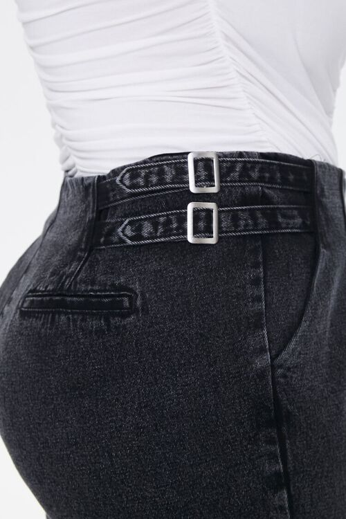 Plus Size Buckled Straight-Leg Jeans, image 6
