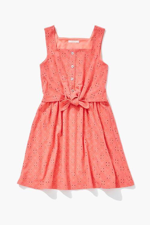 Girls Knotted Eyelet Dress (Kids), image 1