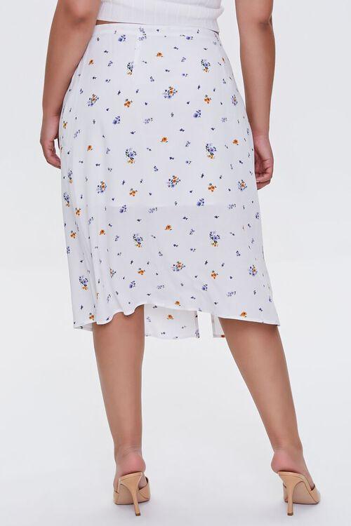 Plus Size Floral Print Skirt, image 4