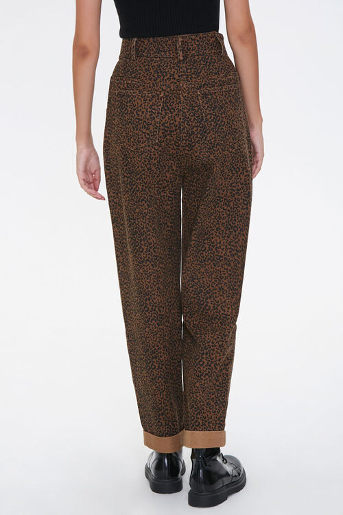 Leopard Print High-Rise Pants, image 3