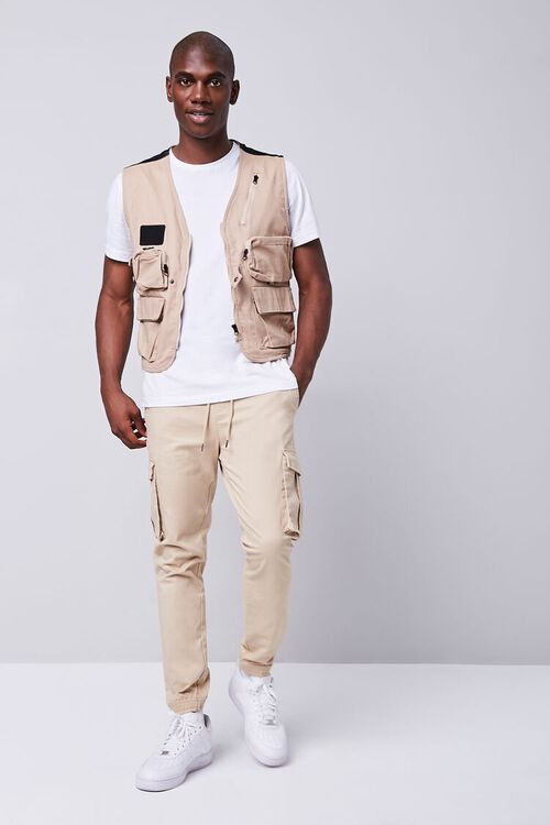 TAUPE Zip-Up Utility Vest, image 4