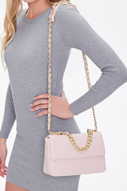 Quilted Faux Leather Crossbody Bag, image 1