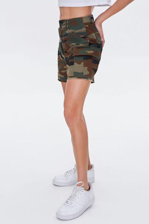 OLIVE/MULTI Camo Cargo Shorts, image 3
