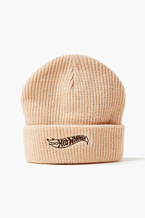TAN/BROWN Reina Embroidered Beanie, image 3