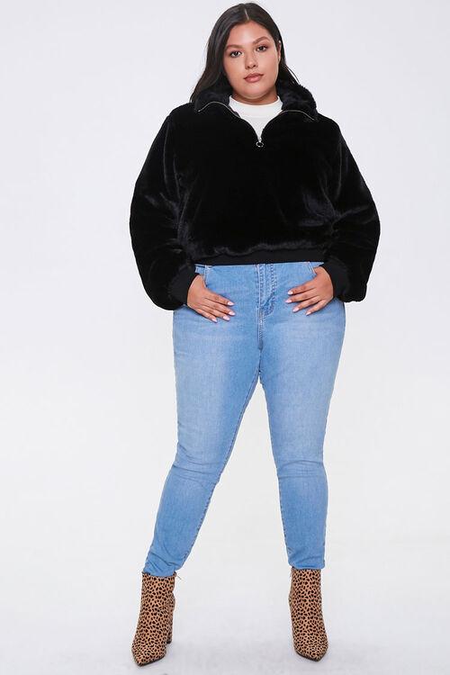 Plus Size Plush Half-Zip Pullover, image 4