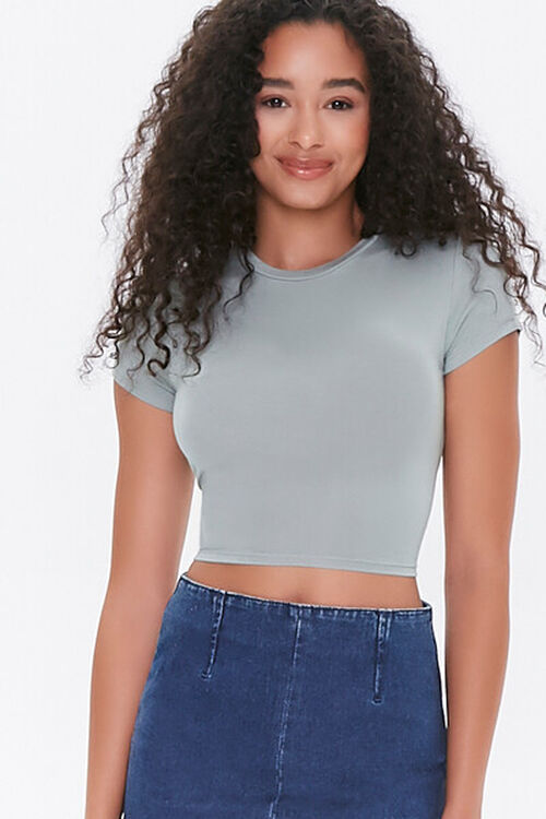 Tie-Back Cropped Tee, image 2