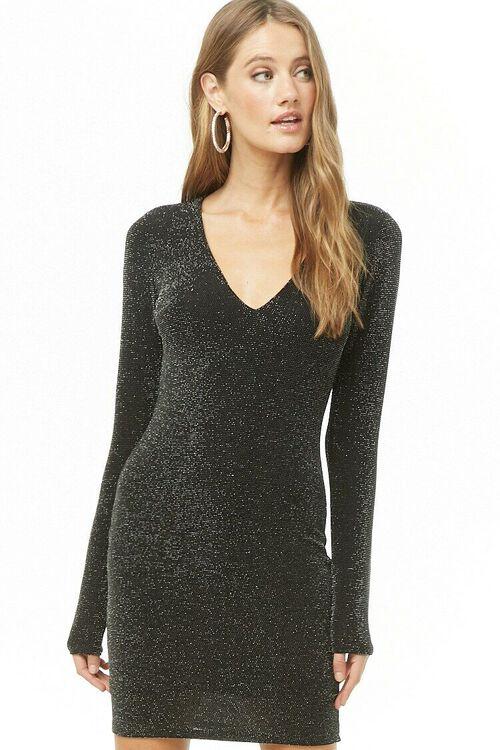 Metallic Knit Dress, image 2