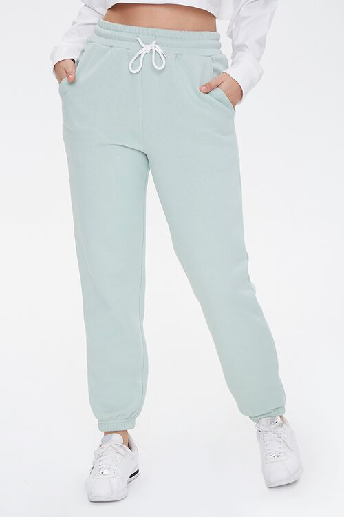 French Terry Drawstring Pants, image 2