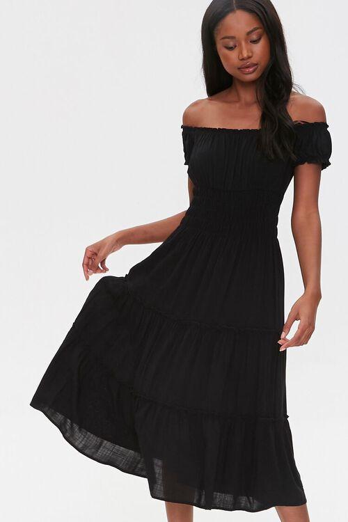 Linen Off-the-Shoulder Dress, image 2